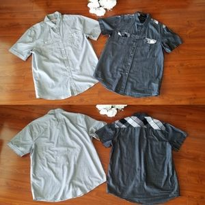 Lot of 2 Collared Button Down Shirts Large